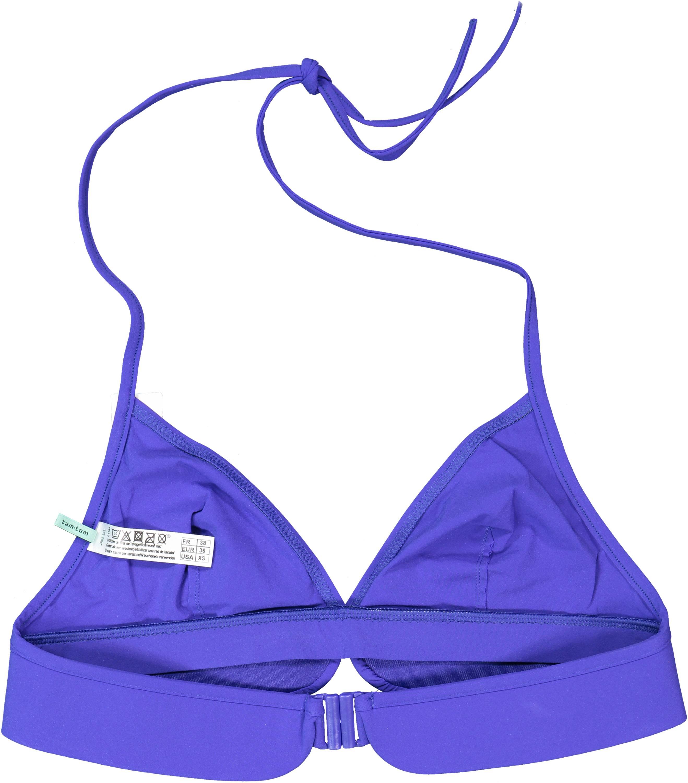 Bikini Oberteil Triangel Ornament Skiny royal blau Bademode Damen XX256440
